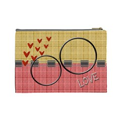 Love U L Cosmetic Bag By Daniela   Cosmetic Bag (large)   9vyagb73oywf   Www Artscow Com Back