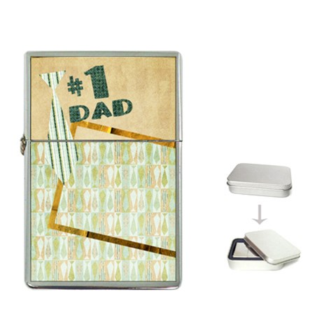 #1 Dad Flip Top Lighter  By Mikki   Flip Top Lighter   R0bctd2bxam7   Www Artscow Com Front