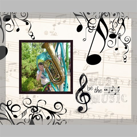 Must be the Music 20 x 16 stretched canvas by Catvinnat 20  x 16  x 0.875  Stretched Canvas
