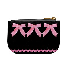 Black & Pink Coin By Kim White   Mini Coin Purse   I7hgrua91wa2   Www Artscow Com Back