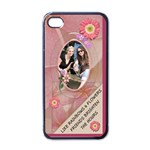 Friends & Flowers Apple iPhone Case - Apple iPhone 4 Case (Black)