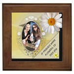 Friends & Flowers Framed Tile