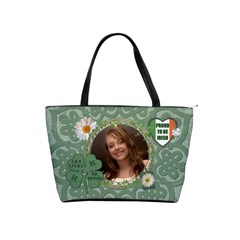 Proud To Be Irish Classic Shoulder Handbag By Lil    Classic Shoulder Handbag   88lmi52bu0ks   Www Artscow Com Front