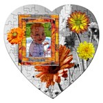 Flowers Heart Puzzle - Jigsaw Puzzle (Heart)