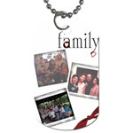 toni family dog tag - Dog Tag (One Side)