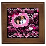 Hearts n Roses You Light Up my Life Pink Framed Time - Framed Tile