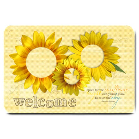 Sunflowers Welcome Large Doormat  By Mikki   Large Doormat   Hqnj2cjj7whk   Www Artscow Com 30 x20 Door Mat - 1