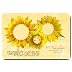 Sunflowers-welcome-Large Doormat