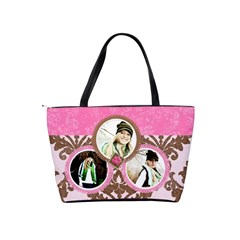Pink & Brown Purse Template By Danielle Christiansen   Classic Shoulder Handbag   Scdk16d1g6hy   Www Artscow Com Back