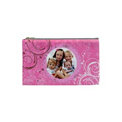 Pink Chocolate Coin Purse Template By Danielle Christiansen   Cosmetic Bag (small)   982z725qi05b   Www Artscow Com Front