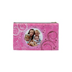 Pink Chocolate Coin Purse Template By Danielle Christiansen   Cosmetic Bag (small)   982z725qi05b   Www Artscow Com Back