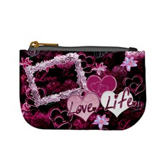 Love Life Purple Mini Coin Purse By Ellan   Mini Coin Purse   1prfqs2p4ju2   Www Artscow Com Front