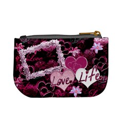 Love Life Purple Mini Coin Purse By Ellan   Mini Coin Purse   1prfqs2p4ju2   Www Artscow Com Back