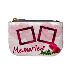 Memories Lace Roses Pink Mini Coin Purse By Ellan   Mini Coin Purse   L0v4pk4o2fee   Www Artscow Com Front