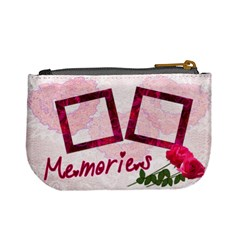 Memories Lace Roses Pink Mini Coin Purse By Ellan   Mini Coin Purse   L0v4pk4o2fee   Www Artscow Com Back