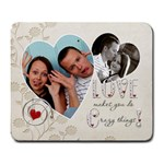 Crazy Love Rectangular Large Mousepad