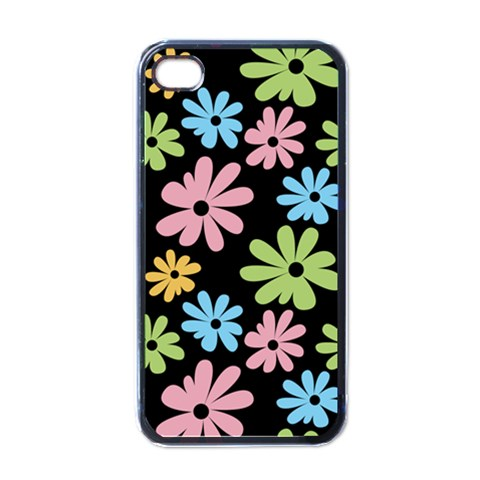 Black Flower Phone Case By Charlotte Young   Apple Iphone 4 Case (black)   U7j7q3o6wquv   Www Artscow Com Front