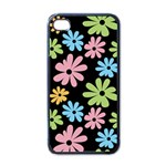 Black flower phone case - Apple iPhone 4 Case (Black)