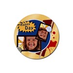 Happy day - Rubber Coaster (Round)