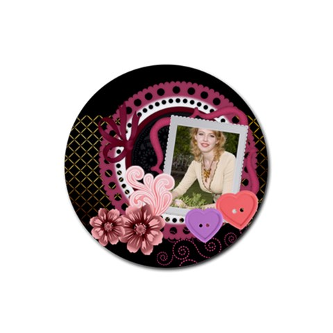 Love By Joely   Rubber Coaster (round)   Lhmg53lu9a1z   Www Artscow Com Front