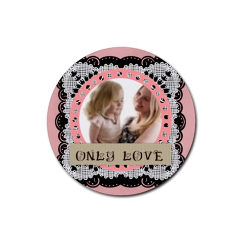 Love By Joely   Rubber Coaster (round)   Uk661zy332t4   Www Artscow Com Front