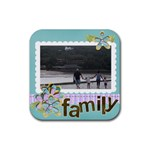 Rubber Square Coaster (4 pack)- Family