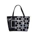 classic shoulder handbag black and white