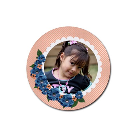 Rubber Coaster   Burst Of Flowers By Jennyl   Rubber Coaster (round)   Fujyzgz73b7e   Www Artscow Com Front