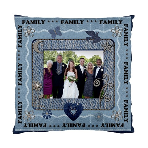 Family Cushion Case (i Sided) By Lil    Standard Cushion Case (one Side)   Y5eue7g7fwd9   Www Artscow Com Front