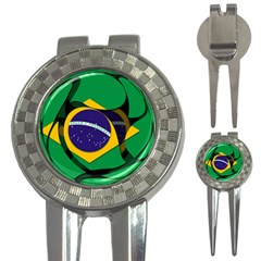 Brazil 1 3-in-1 Golf Divot by abcde