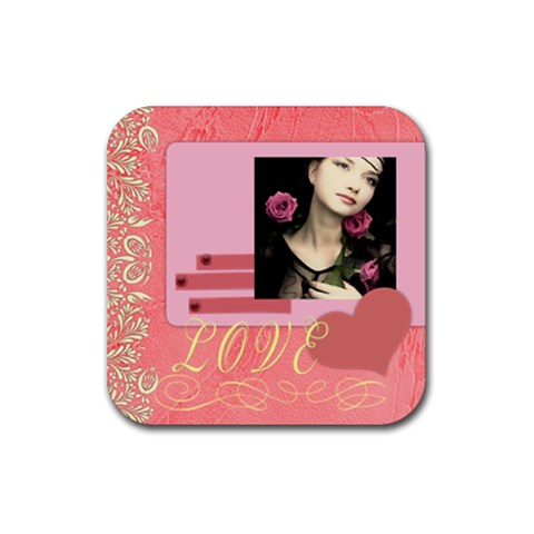 I Love You Forever By Joely   Rubber Coaster (square)   Ay2p9krcgw94   Www Artscow Com Front