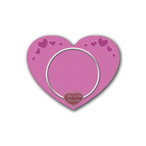U & Me Forever Coaster By Daniela   Rubber Coaster (heart)   N8hsvahy52a8   Www Artscow Com Front