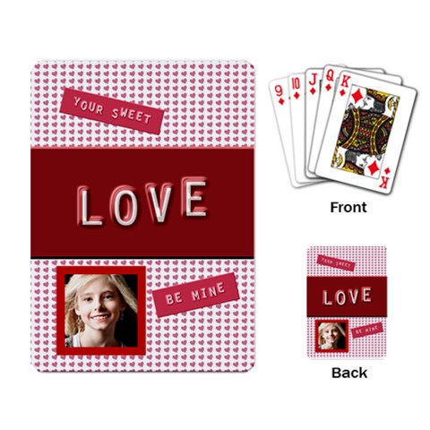 Be Mine Valentine Playing Cards By Danielle Christiansen   Playing Cards Single Design   He30nir7yojj   Www Artscow Com Back