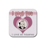 i love you grandma coaster - Rubber Coaster (Square)