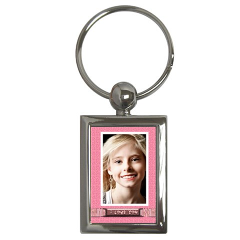 I Love You Key Chain By Danielle Christiansen   Key Chain (rectangle)   5sjkx6fz1aj8   Www Artscow Com Front