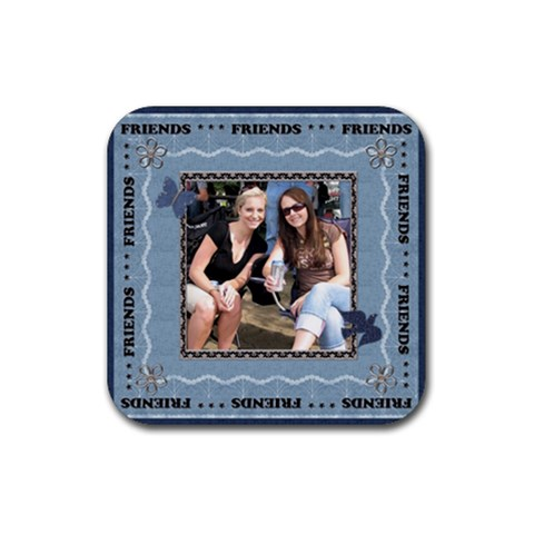 Friends Coaster By Lil    Rubber Coaster (square)   Rqfkcgyclqq3   Www Artscow Com Front
