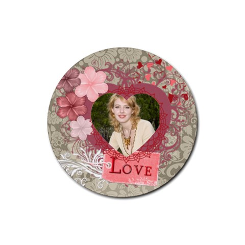 Love Rubber Coaster  By Joely   Rubber Coaster (round)   Qyqkqfkhkqah   Www Artscow Com Front