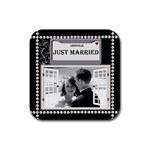 Just Married Coaster - Rubber Coaster (Square)