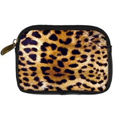 Leopard Skin Digital Camera Leather Case by photogiftanimaldesigns