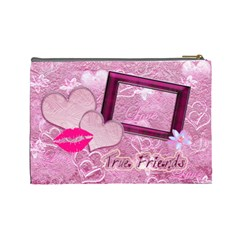 True Friends Lav Large Cosmetic Bag By Ellan   Cosmetic Bag (large)   Mdpvl484b99p   Www Artscow Com Back