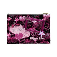 Two Hearts Beat As One Lav Large Cosmetic Bag By Ellan   Cosmetic Bag (large)   C7fxlclwtvis   Www Artscow Com Back