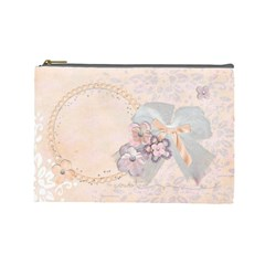 Angel Eyes Cosmetic Bag (l) By Mikki   Cosmetic Bag (large)   Ye1eyz5bqce7   Www Artscow Com Front