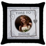 Time To Shine Throw Pillow Case - Throw Pillow Case (Black)