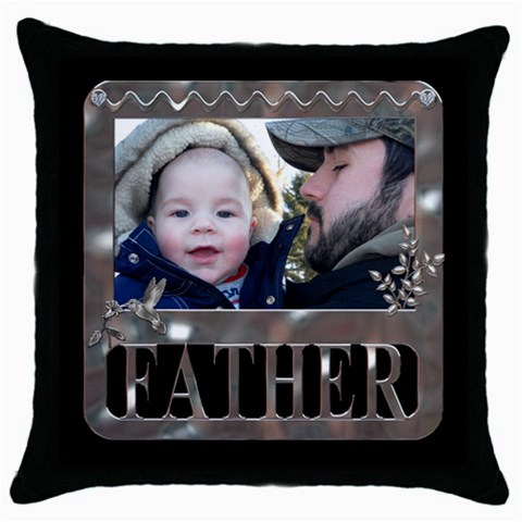 Father Throw Pillow Case By Lil    Throw Pillow Case (black)   2okhmsalysc5   Www Artscow Com Front