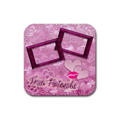 True Friends Lav Square Coaster By Ellan   Rubber Coaster (square)   Ic7ekhmeul4d   Www Artscow Com Front