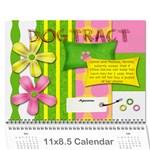 chloes calender - Wall Calendar 11  x 8.5  (12-Months)