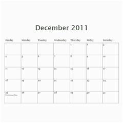 Chloes Calender By Melly   Wall Calendar 11  X 8 5  (12 Months)   Z1ioxjakygo3   Www Artscow Com Dec 2011