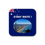 Aussie Coaster - Rubber Coaster (Square)