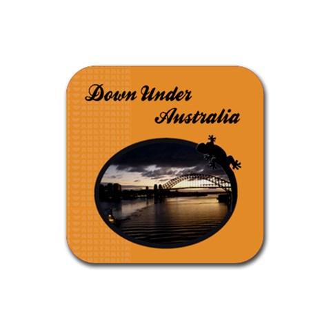 Australia Coaster By Mum2 3boys   Rubber Coaster (square)   7bbw3x1r46e9   Www Artscow Com Front