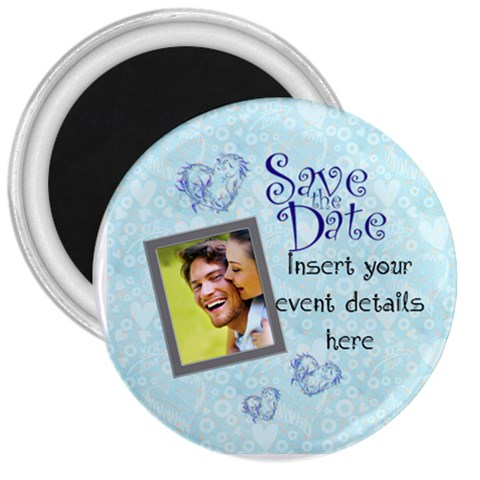 Save The Date 3 Inch Magnet By Catvinnat   3  Magnet   Sper5idfnhm6   Www Artscow Com Front